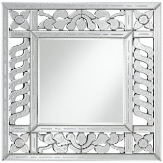 "Etched Venetian 31 1/2"" High Square Wall Mirror   #X5855"