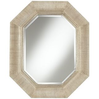 "The Stevens Champagne 32 1/2"" High Octagonal Wall Mirror   #W9000"