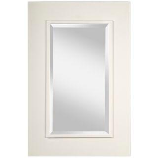 "Murray Feiss Smythe Framed 36"" High White Wall Mirror   #X5746"