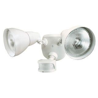"""White ENERGY STAR 17"""" 2 Light Motion Sensor Security Light   #K6515"""