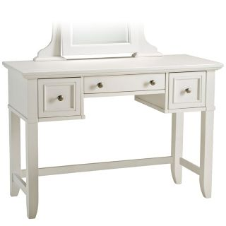 Naples White Vanity Table with Mirror   #W3322