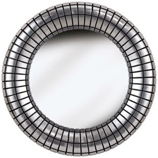 """Silver Ice 34"""" High Wall Mirror   #T5062"""