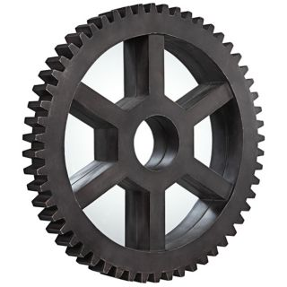 """Cooper Classics Connell Round 35 1/2"""" Cog Wall Mirror   #X7029"""