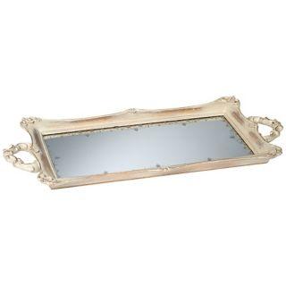 Rectangular Antique Mirrored Tray   #U4224
