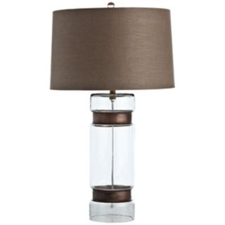 Arteriors Home Garrison Tall Brass and Glass Table Lamp   #V5063