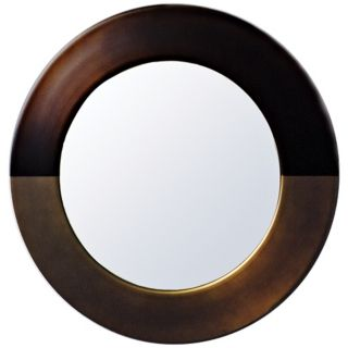 "Babette Holland Sunset Bronze Round 30"" Wide Wall Mirror   #M5635"