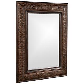 "Grant Textured Copper 39"" High Wall Mirror   #R2194"