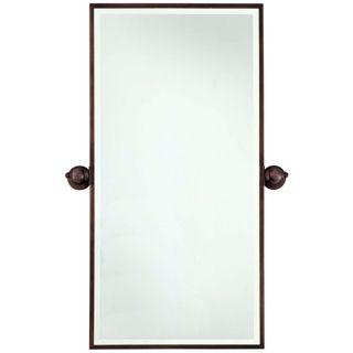 "Minka 36"" High Rectangle Brushed Bronze Bathroom Wall Mirror   #V2158"