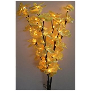 Decorative Yellow LED Orchid Blossom Tree Accent Light   #U7876