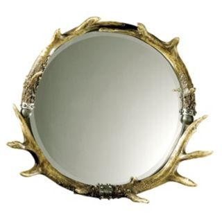 "Stag Horn Faux Antler 26"" Wide Wall Mirror   #49881"