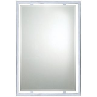 "Quoizel Norton Chrome 32"" High Rectangular Wall Mirror   #X5899"
