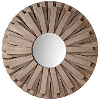 "Murray Feiss Weathered Discus 36"" Wide Wall Mirror   #X2657"
