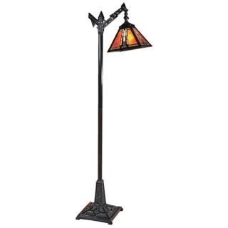 Dale Tiffany Amber Monarch Downbridge Mica Floor Lamp   #X3504