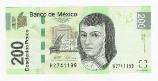 Mexico 200 Pesos Banknote 2008 UNC Juana de Asbaje Series R