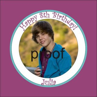 Justin Beiber Fan Personalized Custom Cupcake Toppers