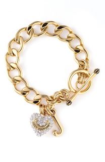 Juicy Couture Gold Pave Heart Starter Bracelet New