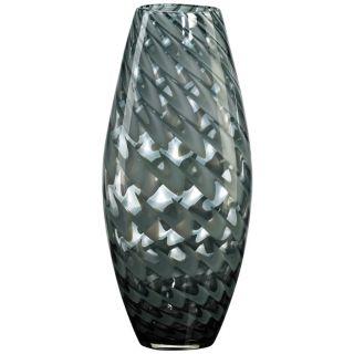 "Pistachio Light Green Smoked Glass 8 3/4"" High Vase   #J0434"