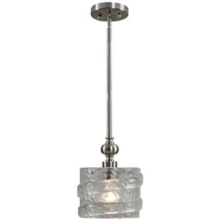 Uttermost Mossa Seeded Glass 1 Light Mini Pendant Light   #T2893