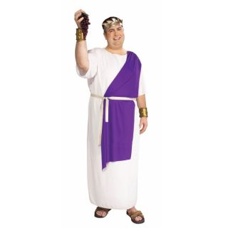 Julius Caesar Roman Gladiator Spartacus Robe Toga Plus Size Halloween
