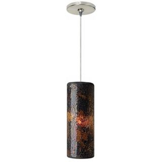 Veil Brown Glass Satin Nickel Tech Lighting Mini Pendant   #P8140 84367