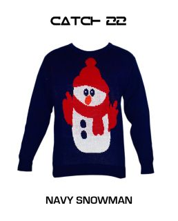 Mens Ladies 70's Jumper Sweater Retro Christmas Xmas Reindeer Winter