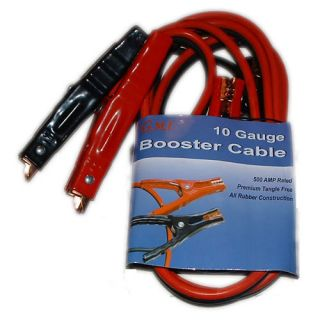 Jumper Cables Heavy Duty 6ga Wire 12ft Length