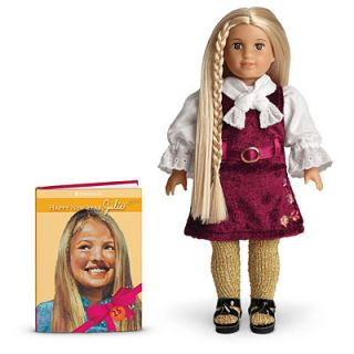 American Girl Julie Collectible Mini Doll 25 Year Anniversary Holiday