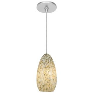 Banja Ivory Opaque with Satin Nickel Fusion Jack Mini Pendant   #M9271 47250