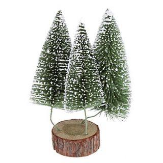 EUR € 11.95   24cm 10 3 en 1 Frosted Pine árbol de navidad adornos