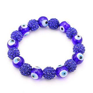 EUR € 6.98   Blue Eye Ball Shaped Zircon Armband, Gratis Verzending