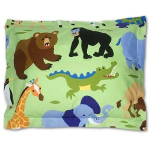 SAFARI ANIMALS JUNGLE MONKEY BEAR LION FULL COMFORTER AND SHEET SET**