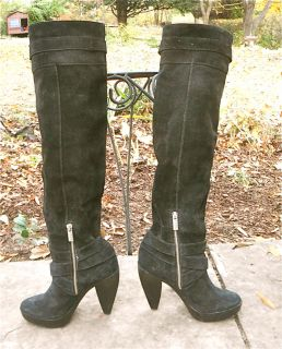 Breathtaking Michael Kors Over The Knee Suede Boots 7
