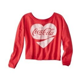 Enjoy Coca Cola Vintage Style Coke Love Heart Long Sleeved Red Tee T