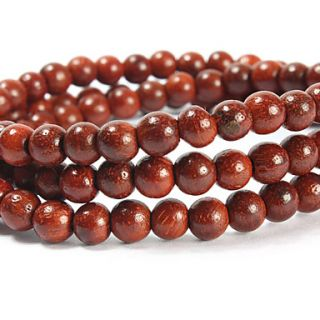 USD $ 9.79   Natural Indian Bois De Rose 108 5mm Prayer Beads