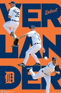 Justin Verlander TRIPLE ACTION Detroit Tigers MLB Baseball Action