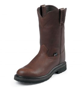 Justin Mens Brown Pull on Boots WK4920