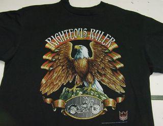 Vintage 1993 Maui Kahului Hawaii Harley Davidson Motorcycle Eagle T