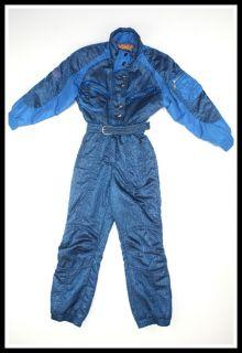 Kaelin Size 6 Blue Vintage One Piece Womens Snow Suit Snowboarding Ski