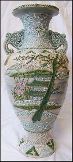 Nippon Kutani Kaga Ware Japanese Pottery Vase 1800s Moriagi