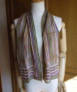 1980s VINTAGE & ELEGANT ISSEY MIYAKE Silk Scarf Stole Good condition