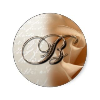 Monogram Letter B 2008 Wedding Envelope Sticker