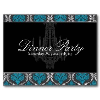 Dinner Party Invitation Postcard