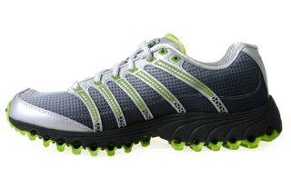 Kswiss Mens Running Shoes Tubes Run 100 Black Fade Bright Green