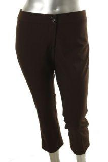Karen Kane New Brown Flat Front Flared Capri Pants Plus 20W BHFO