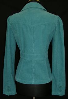 Ann Taylor Turquoise Blue Green Corduroy Jacket 6 New Fitted Feminine