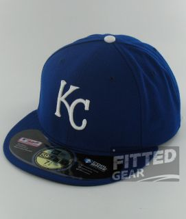 Kansas City Royals Game Home Blue White New Era 59Fifty MLB Fitted