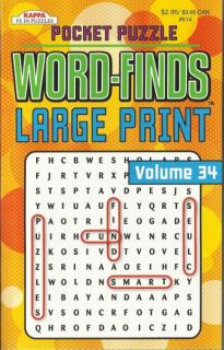 Kappa 2012 Word Finds Puzzles Book Volume 34 Large Print