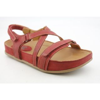 Kalso Earth Ramble Womens Size 8 5 Red Red Leather Comfort Sandals