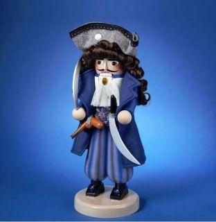 2012 Signed Karla Steinbach Pirate Captain Wooden Nutcracker Free s H
