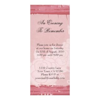 Chic Rose Dinner Party Invitation